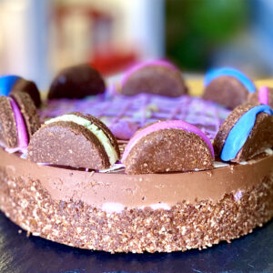 Tort Zmeura si Ciocolata Raw Vegan