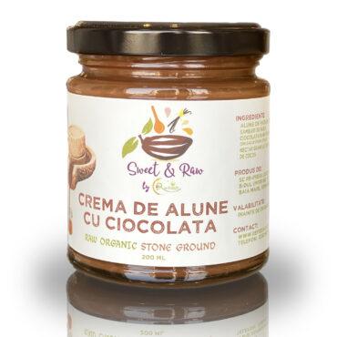 Crema de ALUNE cu CIOCOLATA Raw Vegana